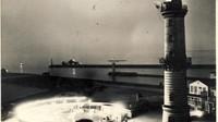 Wa z 1423 leuchtturm mit ruine des teepavillions 1961