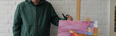 485 verlebt in eine meerjungfrau  aquarell auf leinwand  christian kaiser  rostock