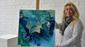 493 coral blue  acryl auf leinwand  manuela hubrich  rostock