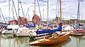 Boote im hafen von stralsund  sailing boats in the harbour of stralsund